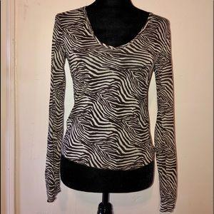 Express zebra top